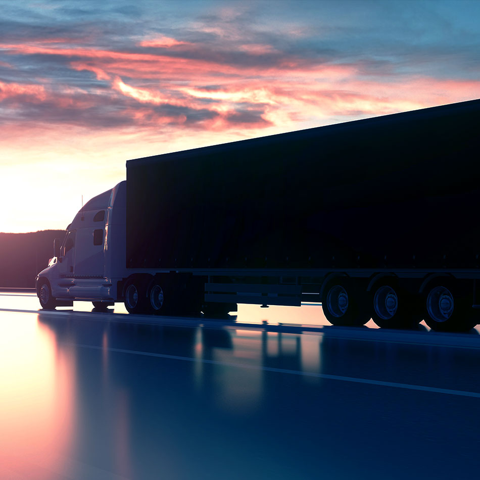 Real Truckers Truck at Sunset